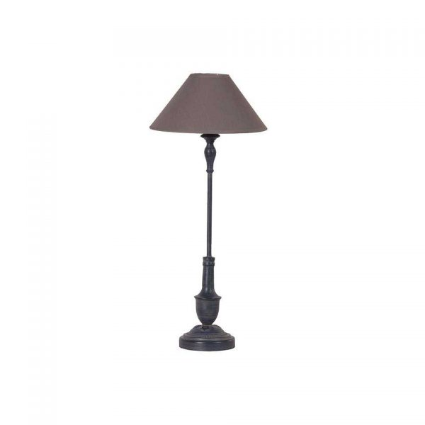 Black stem lamp
