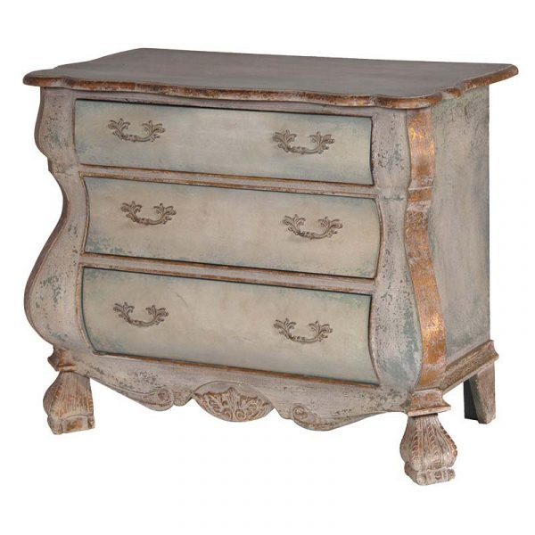 Green & Gold Distressed Chest