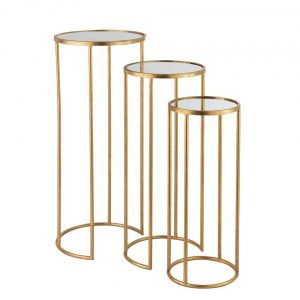 LUX gold nest of tables