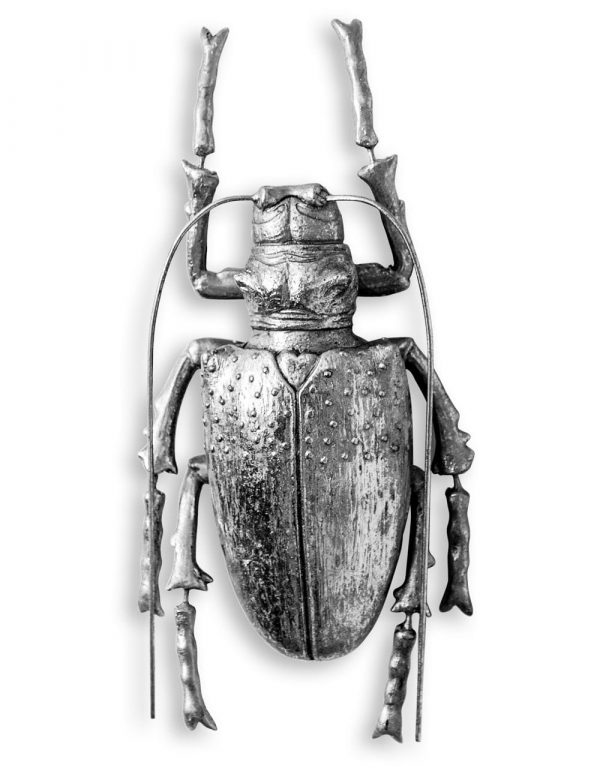 Medium Silver Beetle Wall Decor - Source Interiors