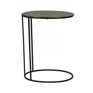 Paso side table brass