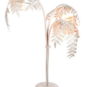 Silver Palm Table Lamp