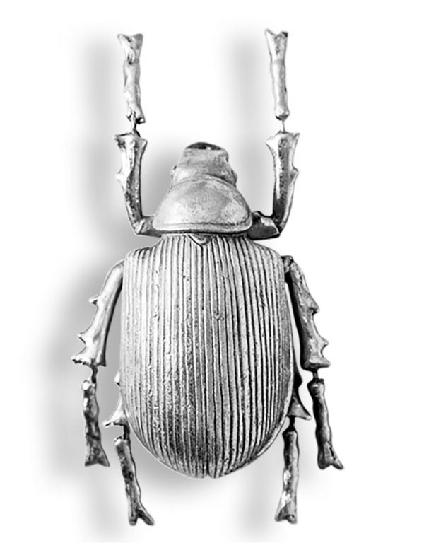 Small Silver Beetle Wall Decor - Source Interiors