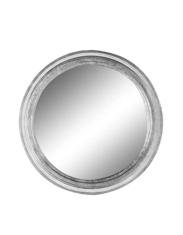 Small Silver round Metal mirror