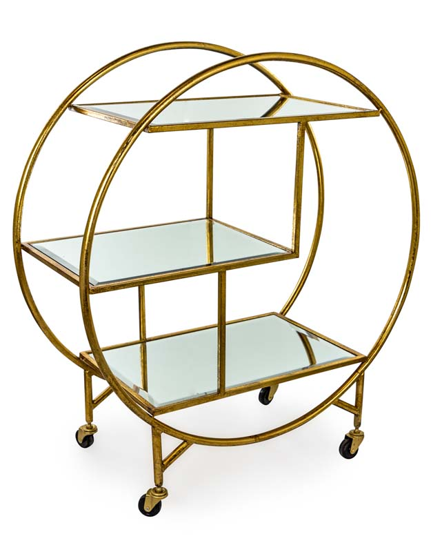 Antique Gold Drinks Trolley €329.00