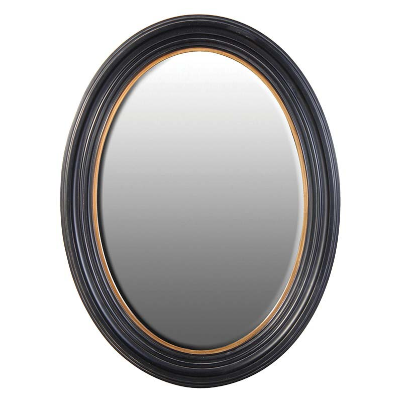 Black & Gold Oval Mirror €249.00