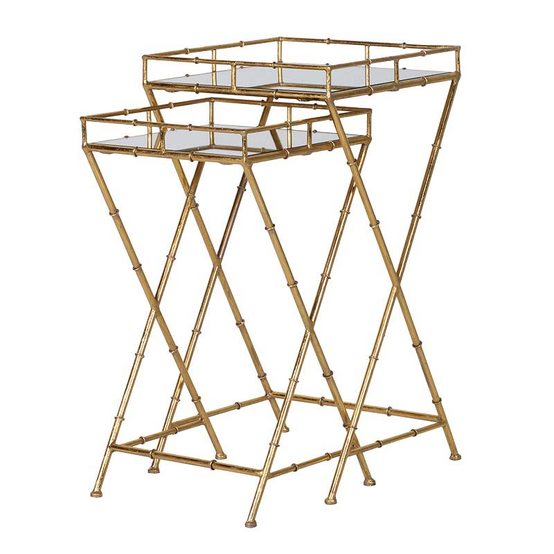 Gold Bamboo Nest of Tables €219.00