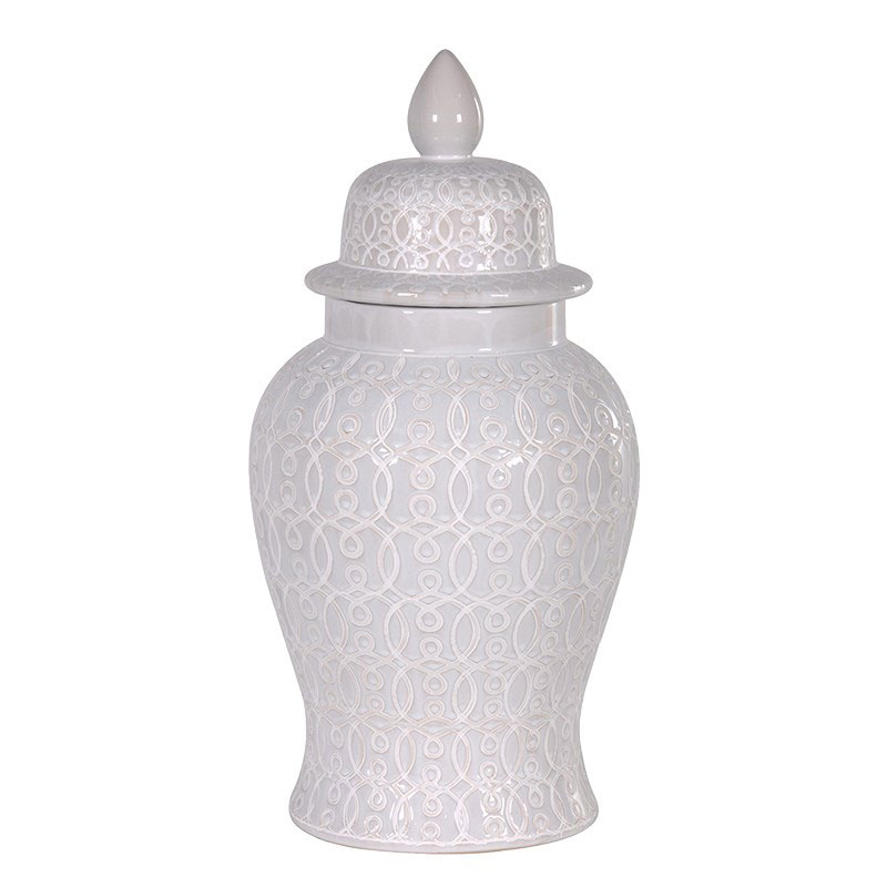 White Ginger Jar Large - €125.00