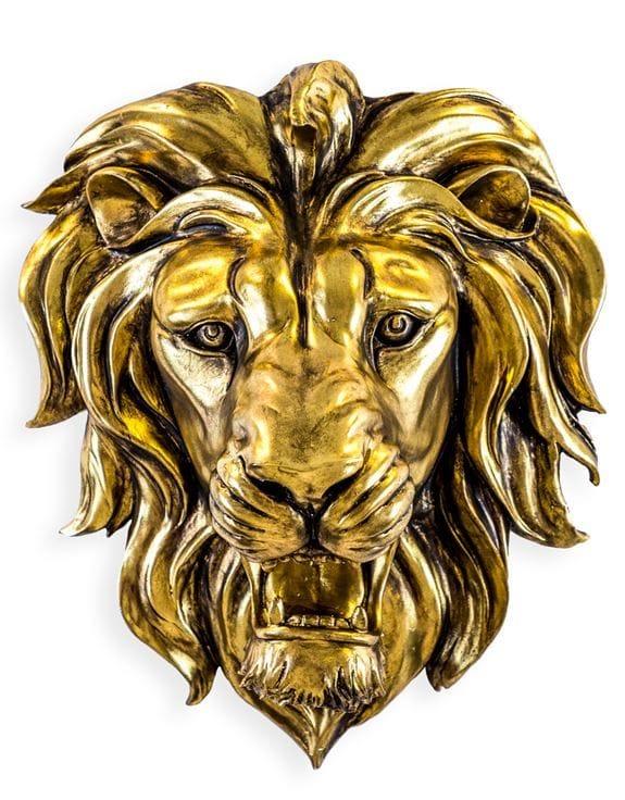 Gold-Roaring-Lion-€199.00 48.5x42.5x24cm