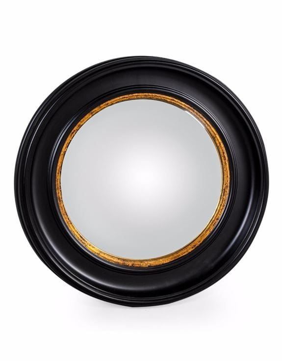 Round Black Large Convex Mirror - €249.00 | H74xW74xD4.5cm