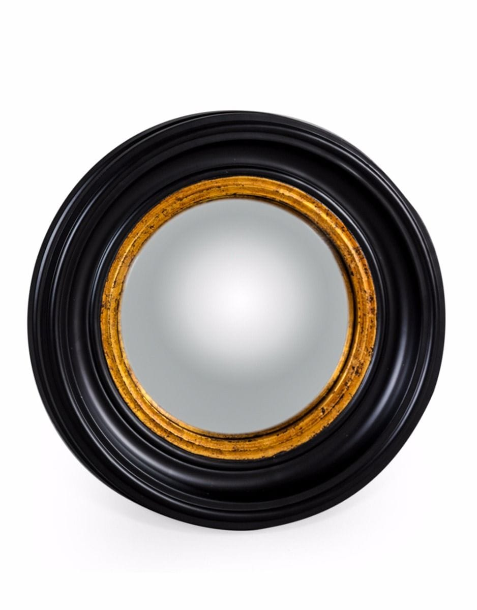 Round Black Small Convex Mirror - €89.00 | H40xW40xD4.5cm