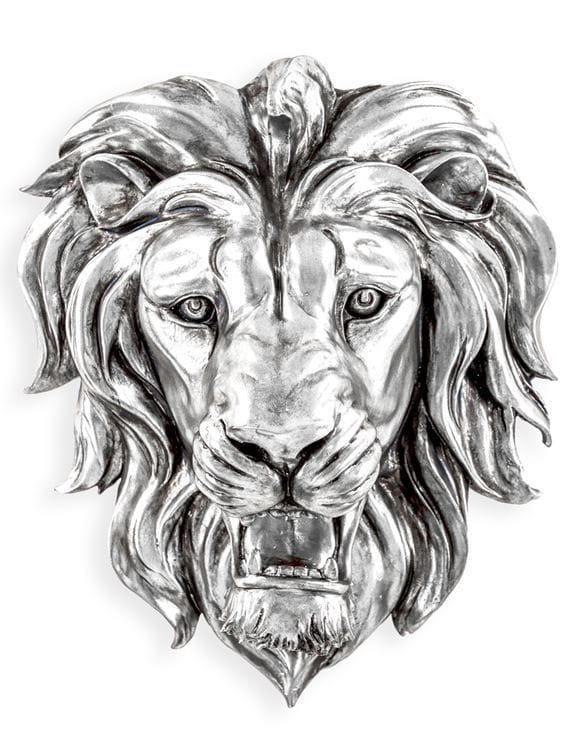 Silver Roaring Lion - €199.00 | 48.5x42.5x24cm